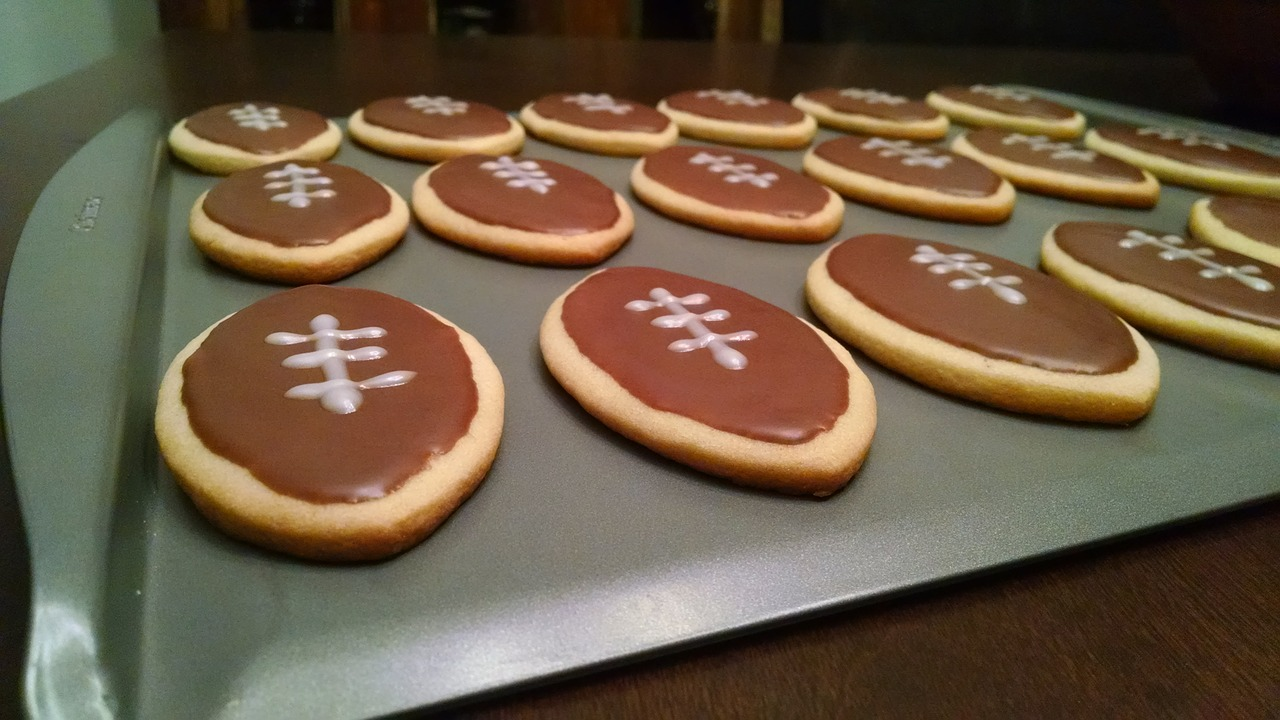 Football Treats Sugar Cookies Cookies Football