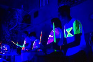 Construction Forces Three Separate Pep Rallies Upon Arrival Of Annual Blacklight Event