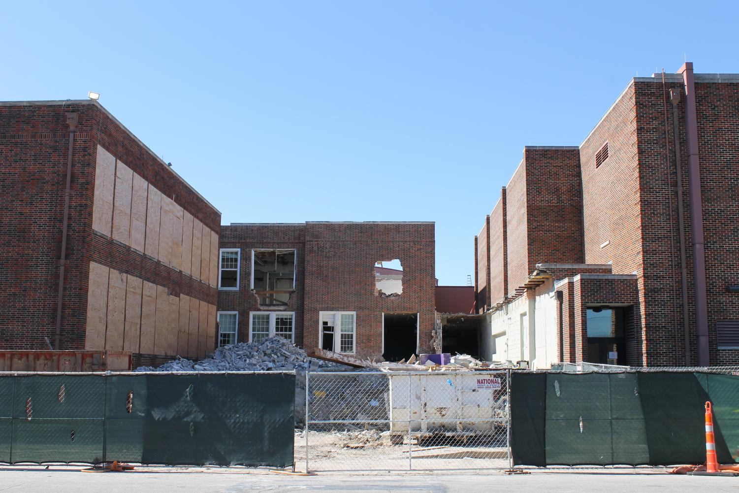 Ongoing construction resulted in the demolition of the iconic arches.