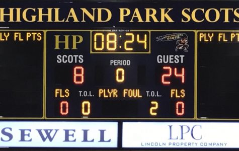 The Scots score board remained on numbers 8 and 24 Monday to honor Kobe.