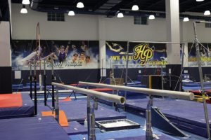 The renovated gymnastics area is renamed the Hegi Family Gymnastics Training Center after a generous dontation.