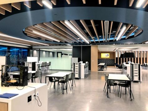 """The """"Makerspace"""" in the MAPS facility can be found on the third floor in the high school"""
