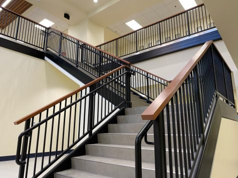 A new staircase in the math wing aims to fight crowded hallways in a year of social distancing.