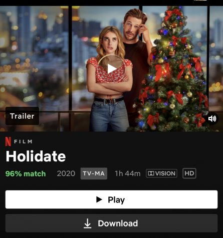 "New movie ""The Holidate"" can be watched on Netflix now. The romantic comedy runs 1 hour and 44 minutes amd stars Emma Roberts and Luke Bracey."