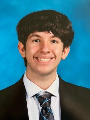 Junior Matthew Mattei is seen in the picture. He developed an app that won the Congressional App Competition.