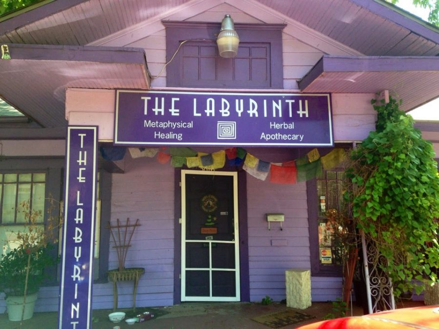 The+Labyrinth+Metaphysical+Herbal+Apothecary+lies+on+the+corner+of+Bell+Avenue.+Dallas%E2%80%99+Oldest+Witch+Shop+is+located+in+operates+out+of+a+little+purple+house.+
